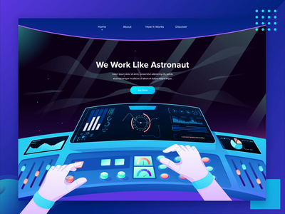 Space Lab Header Landing Page