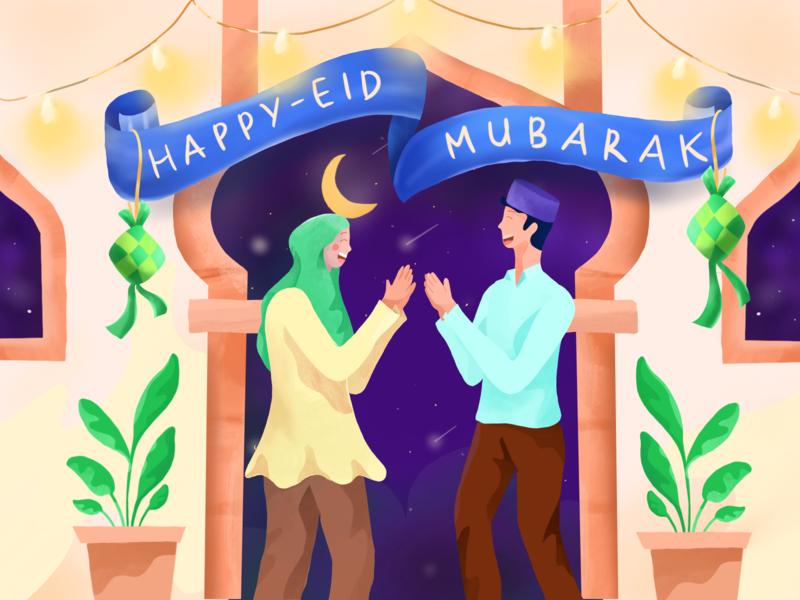 Happy Eid Mubarak 1440H moslem idul fitri muslim islam fasting mubarak eid