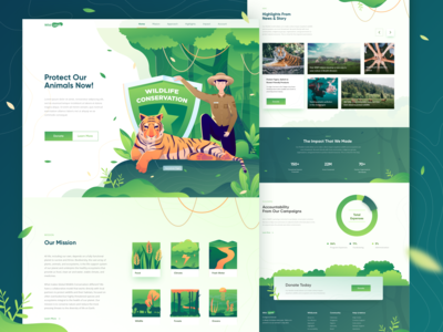 Animal Conservation Landing Page