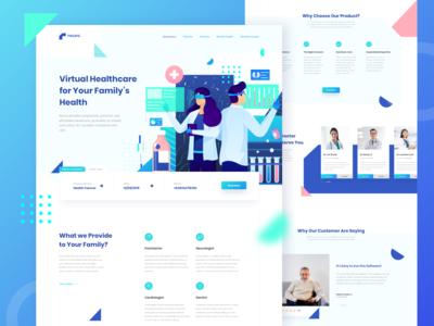 Virtual Healthcare Landing Page