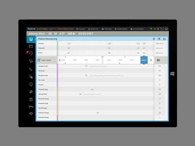 Neptune Anesthesia Application data capture technology medicine application ui design ui  ux user interface