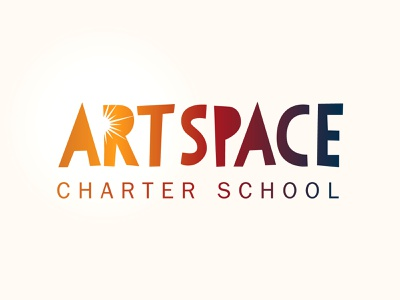 Art Space Charter School colorful identity burst spark sunset sun art sunburst gradient logotype logo asheville