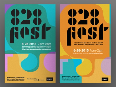 828fest retro poster moog music josef albers black mountain college museum 828fest 828 asheville