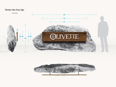 Olivette Entrance Sign Schematic