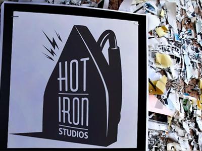 Hot Iron Studios studio logo asheville flyer art iron hot hot iron studios