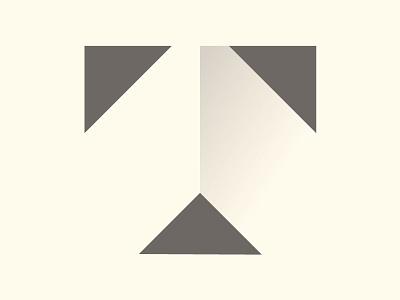 Transcend Custom Homes Mark simple modern minimal type t roof home builder home mark logo