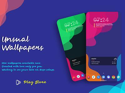 Unusual Wallpapers android wallpaper app wallpaper vector ui design illustration