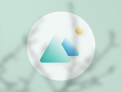Unusual Wallpapers app Logo branding app illustration ux nature android ui cute design logo