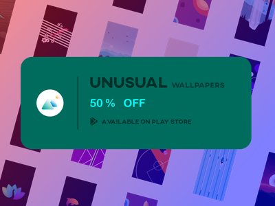 Unusual Wallpapers app for Android icon ux vector ui android logo colorful design illustration