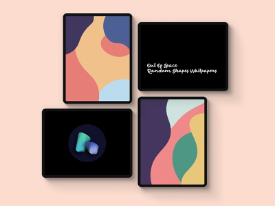 Out Of Space - Wallpapers Set pastel shapes shape iphone ipad wallpaper vector colorful design illustration