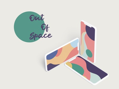 Out Of Space - Wallpapers Set pastel wallet iphone branding android cute colorful design illustration