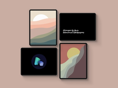 Glimpse Of Sun - wallpapers set landscape nature sun product wallpaper iphone x ipad iphone vector android colorful design illustration