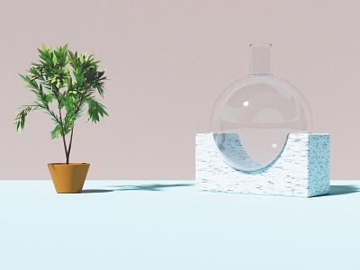 3D Illustration – Living Area interior 3dart 3d blender design illustration