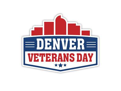 Denver Veterans Day Logo branding event branding event non profit logo design design logo
