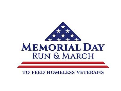 Logo for Memorial Day Run & March logo design non-profit branding event event branding logo non profit design