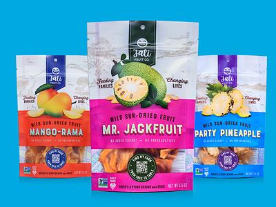 Jali Fruit Co. Packaging dried fruit women empowerment packaging graphic design branding design