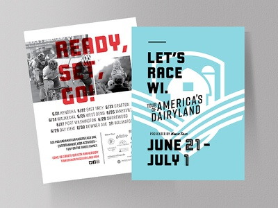 TOUR OF AMERICA'S DAIRYLAND: UNTD - Postcard postcard design