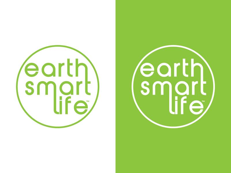 Earth Smart Life typography green vector design round branding design brand design illustration brand identity branding