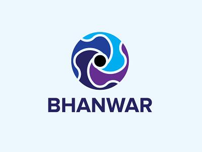 bhanwar red vector blue typography round brand design branding design brand identity brand design illustration branding