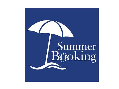 Summer Booking travel sunset treval beach sun best branding design blue brand identity brand design illustration branding