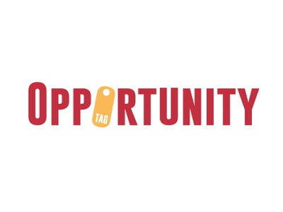 opportunity tag vector brand typography branding design logo brand identity brand design illustration branding opportunity tag