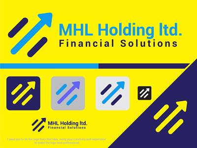 MHL Holding ltd finance up arrow brand logo branding design brand identity brand design illustration branding
