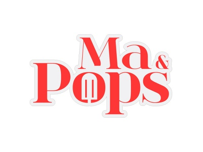 Ma Pops icecream popsicle brand logo branding design brand identity brand design illustration branding