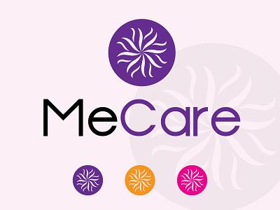 me care design round blue black logo brand branding design brand identity brand design illustration branding