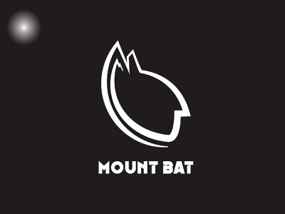 MountBat vector design black brand branding design logo brand identity brand design illustration branding mount bat batman