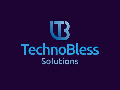 Technobless Solutions technology logo design brand identity design branding design logo brand design illustration branding tech