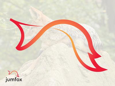 Jumfox adobe illustrator vector design brand branding design brand identity logo brand design illustration branding best logo logo design real heo green jungle orange jumping fox logo jumping fox jump fox