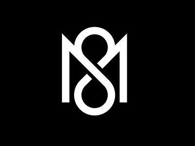 M8 Fitness great minimal m8 best mark m8 white black unique logo-mark