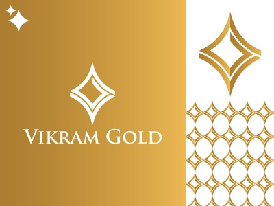 vikram gold gredient logo branding design brand identity brand design golden ratio design illustration branding brand gold logo vg gold