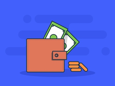 Wallet Money Illustration