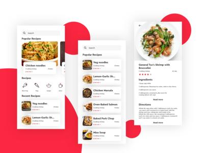 Interaction UI design for food prepare recipes.