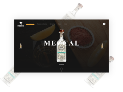 Mezcal website ui design