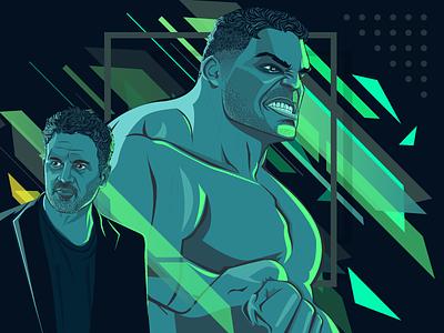 Bruce Banner aka Hulk minimal vector artwork angry mcu greenhulk thanos infinity big avengers marvel hulk