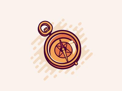 Compass vector ui pocket palette lighter key ivory illustration icon compass color