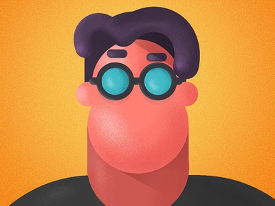M Smith flat character color illustration vector
