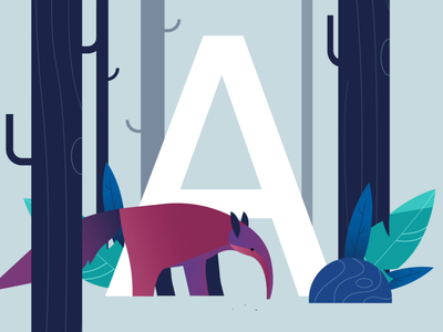 Ate them all a motiondesign animal character flat color vector illustration 36daysoftype