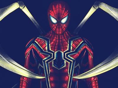 Iron Spider spiderman marvel digitalart character illustration vector