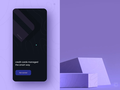 CRED 2.0 | Landing screen fintech mobile interface visualdesign ui palette animation flat color character illustration vector