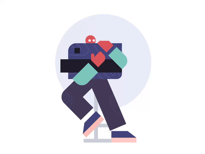 CRED 2.0 | i love my credit card! visualdesign fintech ui palette animation flat color character illustration vector
