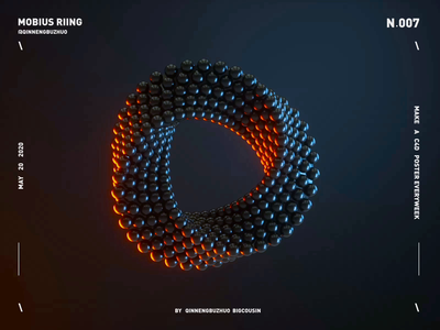 MOBIUS RIING C4D ANIMATION animation continue to work hard c4dart c4dfordesigners typography china illustration mobius colors art design