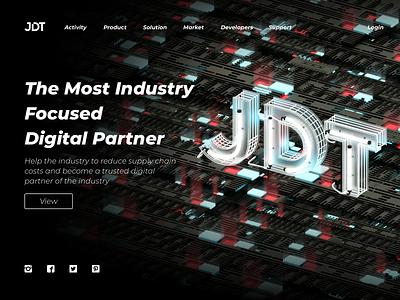 JDT C4D Banner 1 Visual Design c4dfordesigners web banner china card branding continue to work hard ux c4d colors art design