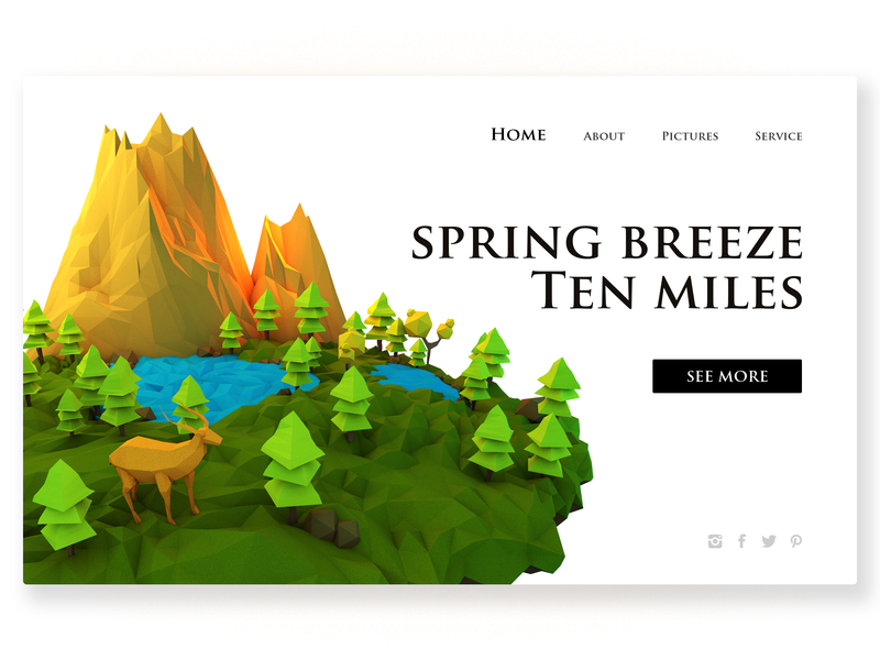 Spring Breeze Ten Miles 艺术 向量 中国 颜色 接口 ui 继续努力 design 插图 c4d web