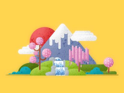 Fujiyama illustrations