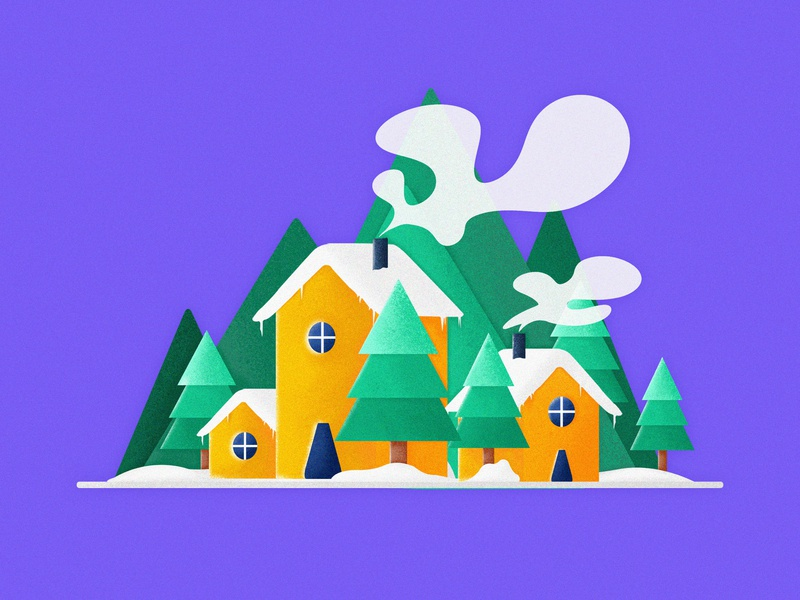 Snow House Illustrations snow concept interface design postercard continue to work hard postcard branding handwork web typography card interface ue ux colors design ui art china illustration