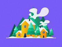 29 snow house illustrations