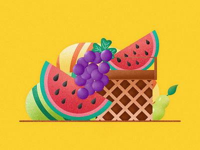 Fruit Illustrations continue to work hard social app postercard postcard heart card branding handwork fiuit interface design typography illustration ue ux interface colors china art ui design